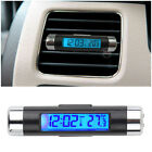 New 2 in1 Car Auto LCD Clip-on Digital selling hot Voltmeter + Clock Thermometer