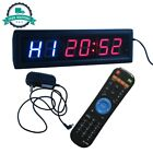 Interval Timer Stopwatch Wall Clock IR Remote Control Garage Gym Or Basement NEW