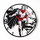 "Superman Wall Clock Art Watch Home Decor Film Hero Clocks 11.8"""
