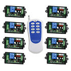 110V 220V RF Wireless Remote Control Switch System,8CH Transmitter  Receivers