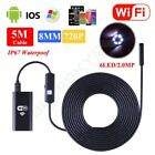 LOT 2-5M WIFI Endoscope Borescope HD Inspection Snake Camera For iPhone Android