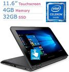 Newest Premium Lenovo 11.6 IPS Touchscreen 2-IN-1 Convertible Laptop PC Intel...