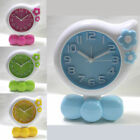 Stylish Flower Shape Study Light Bell Alarm Clock Bedside Desk Kids Child E0177
