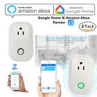 2 Pack Smart WiFi Socket US Plug Outlet Timer Control Power Switch Alexa APP