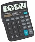 Premium Office 12-Digits Desk Calculator Dual Power Solar & Battery + Warranty