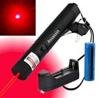 Pet Toy Powerful 5mw 650nm Bright Red Laser Pointer Pen+ Battery+Charger Xmas