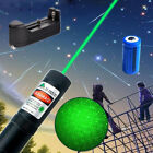 20Mile Powerful 5mw 532nm Green Laser Pointer Pen Military Star Cap+Batt+Charger