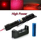 20Miles Powerful Red Laser Pointer Pen 650nm Belt clip Pet Toy+Battery+Charger