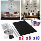 Lot 2/5/10x Modern DIY 3D Wall Clock Home Decoration Sticker Room Decor Blk VIP