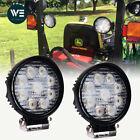 John Deere Tractor 2X 4INCH 54W Round LED WORK LIGHT BAR Flood FOG LAMP 12V/24V