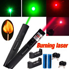 50Miles Green Red Laser Pointer Pen Powerful 4mw 532/650nm Beam+Batt+Charger USA