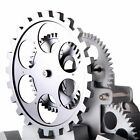 Contemporary Mechanical Wall Mounted Gear Clock Retro for Home Office Decor BR1