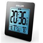 Magideal Nap Alarm Clock Digital Display Blue Backlight Indoor Thermometer
