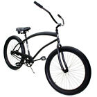 Zycle Fix 26 Cobra Beach Cruiser Single-Speed Bike Matte Black