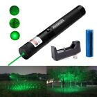 Military Pet Toy Star Pattern 532nm 2In1 Green Laser Pointer Pen+Batt&Charger US