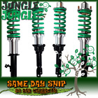 GREEN DIY COILOVER KIT SILVER SLEEVE SILVER + HAT FOR 1989-1991 HONDA CIVIC