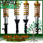 YELLOW DIY COILOVER KIT SILVER SLEEVE GOLD TOP HAT FOR 1989-1991 HONDA CIVIC