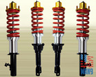 RED DIY COILOVER KIT SILVER SLEEVE GOLD TOP HAT FOR 1994-2001 INTEGRA DC2