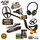 Garrett ACE 400 Metal Detector w/ DD Waterproof Coil, Edge Digger & Sand Scoop