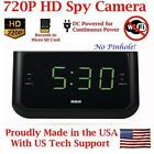 AES Spy Cameras ACRHD 720p Alarm Clock Radio HD Covert Hidden Nanny Camera...