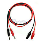 4mm Banana Plug Probe Cable to Alligator Test Lead Clip For Multimeter  Y207