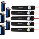 5PC Powerful Red Laser Pointer Pen 10Mile 5mw 650nm Military Laser+Batt+Charger