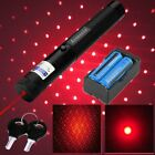 High Power 20Miles 5wm 650nm Red Laser Pointer Star Pattern Pen+Battery+Charger