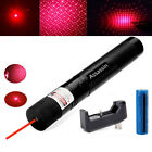 US Powerful Military 20Mile 5wm 650nm Red Laser Pointer Pen Cat Toy+Batt+Charger