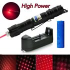 Powerful Bright Light 20Mile 5mw 650nm Red Laser Pointer Pet Toy+Battery+Charger