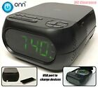Onn CD/AM/FM Alarm Clock Radio with USB port to charge devices + with Large 1.2
