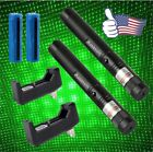 2PC Green Laser Pointer Pen 10Miles Military Dog Toy 5mw 532nm +Battery+Charger