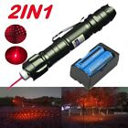5mw 650nm Red Laser Pointer Powerful Light Beam 20Mile Belt clip+Battery+Charger
