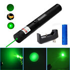 20Miles 5mw 532nm 2in1 Powerful Green Laser Pointer Pen Pet Toy+Battery+Charger