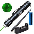 Powerful 10Mile 2IN1 Green Laser Pointer Pen  5mw 532nm Belt clip+Batt+Charger