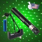Light  2In1 Green Laser Pointer Pen Powerful Star Pattern+Battery&Charger USA