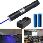 US 20Miles 5mw 405nm Blue Purple Laser Pointer Pen Cat Toy Pen+Battery+Charger