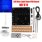 8x8x8 3D Light Cube Kit  Blue LED Music Spectrum PSB Board 10 Brightness Adjust