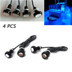 4PCS Blue LED Boat Light Waterproof 12V Deck Storage Kayak Bow Trailer Bass Good