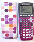 Texas Instruments TI-84 Plus Silver Edition Graphing Calculator Purple with Case