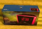 HMDX Eclipse Alarm Clock - USB Port - Dual Alarm - HX-B040PK - Pink - NEW NIB