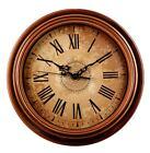AIOLOC Vintage Wall Clock Silent Non-ticking Classic Quartz Wall Clocks Decor 12