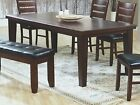 """Coaster Dining Table With 18"""" leaf in Dark Oak Finish"""