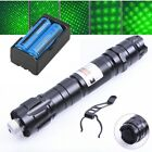 4mw Bright 30Miles Green Laser Pointer Pet Toy Belt clip 532nm+2xBattery+Charger