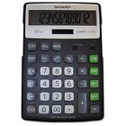 Sharp EL-R297BBK Recycled Series Calculator w/Kickstand, 12-Digit LCD - SHRE ...