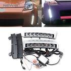 Clear Lens 7 LED DRL Fog Light Bumper Reflector For Nissan 350Z Pre-LCI 03-05