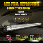 HOT SALE 52Inch 1200W LED Light Bar Offroad Combo Work SUV ATV + Wiring Remote
