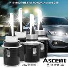 H11 9005 LED Headlight Kits Bulbs Hi/Low Beam For Honda Accord 2 dr. 2015-2013