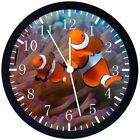 Tropical Ocean Fish Black Frame Wall Clock Nice For Decor or Gifts E302