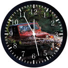 Jeep Wrangler off road Black Frame Wall Clock Nice For Decor or Gifts E320
