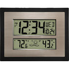 Atomic Digital Wall Clock Better Homes and Gardens with Forecast, Black